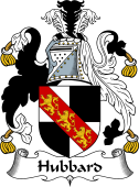 English Coat of Arms for Hubbard or Hubert