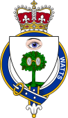 British Garter Coat of Arms for Watts (Scotland)