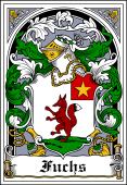 German Wappen Coat of Arms Bookplate for Fuchs