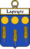 French Coat of Arms Badge for Lapeyre