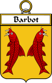 French Coat of Arms Badge for Barbot