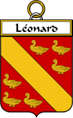 French Coat of Arms Badge for Léonard