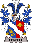Swedish Coat of Arms for Forsell or Forselles
