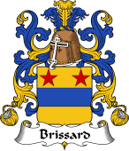 Coat of Arms from France for Brissard
