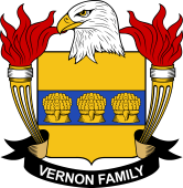 American Coat of Arms for Vernon