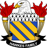 American Coat of Arms for Hawkes