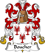 Coat of Arms from France for Boucher