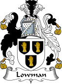 English Coat of Arms for Lowman