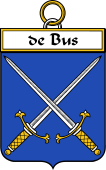French Coat of Arms Badge for De Bus