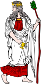 Gods and Goddesses Clipart image: Dionysos (Indian)