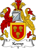 English Coat of Arms for Kemp