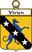 French Coat of Arms Badge for Vivien