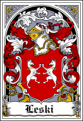 Polish Coat of Arms Bookplate for Leski