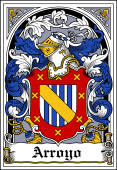 Spanish Coat of Arms Bookplate for Arroyo