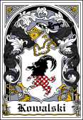Polish Coat of Arms Bookplate for Kowalski
