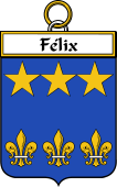 French Coat of Arms Badge for Félix