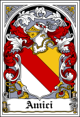 Italian Coat of Arms Bookplate for Amici