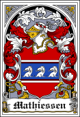 Danish Coat of Arms Bookplate for Mathiessen