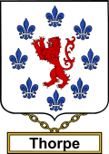 English Coat of Arms Shield Badge for Thorpe