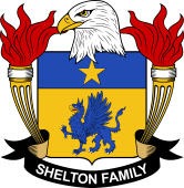 American Coat of Arms for Shelton