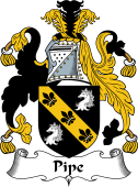 English Coat of Arms for Pipe