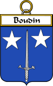 French Coat of Arms Badge for Boudin