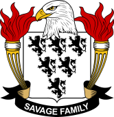 American Coat of Arms for Savage