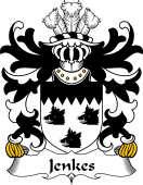 Welsh Coat of Arms for Jenkes (of Wolverton, Shropshire)