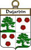 French Coat of Arms Badge for Dujardin