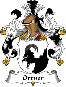German Wappen Coat of Arms for Ortner