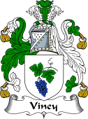 English Coat of Arms for Viney