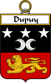 French Coat of Arms Badge for Dupuy