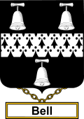 English Coat of Arms Shield Badge for Bell