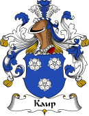 German Wappen Coat of Arms for Kaup