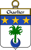 French Coat of Arms Badge for Charlier
