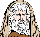 Gods and Goddesses Clipart image: Cronos Head