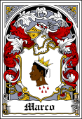 Spanish Coat of Arms Bookplate for Marco