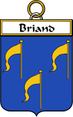 French Coat of Arms Badge for Briand