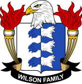 American Coat of Arms for Wilson
