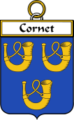 French Coat of Arms Badge for Cornet