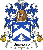 Coat of Arms from France for Besnard