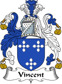English Coat of Arms for Vincent
