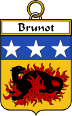 French Coat of Arms Badge for Brunot