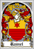 Polish Coat of Arms Bookplate for Ramel