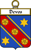 French Coat of Arms Badge for Devos