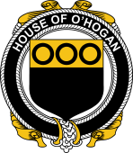Irish Coat of Arms Badge for the O'HOGAN family