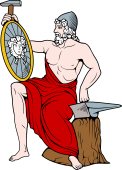 Gods and Goddesses Clipart image: Vulcan