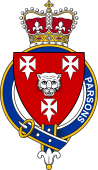 British Garter Coat of Arms for Parsons (England)