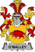 Irish Coat of Arms for Malley or O'Malley