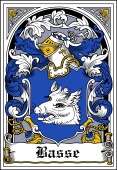 Danish Coat of Arms Bookplate for Basse